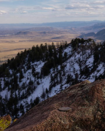 From the summit of Bear Peak, a view to the south, towards Golden.