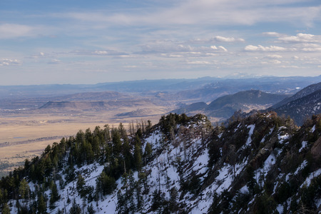 View from the summit of Bear Peak, looking South towards Golden.