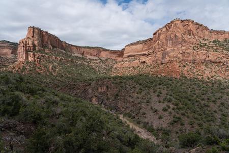 Hiking trails lead into this wilderness area near Fruita, Colorado. Stockfoto