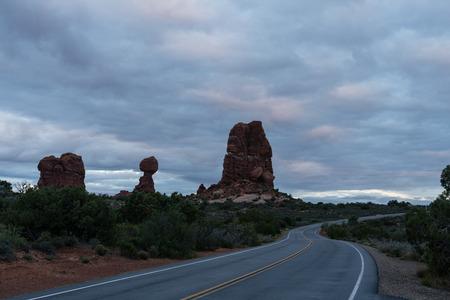 Balanced Rock at sunrise.   Moab, Utah.