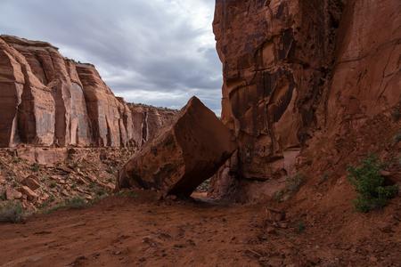 The drive up Long Canyon, outside of Moab, Utah Stockfoto - 123908498