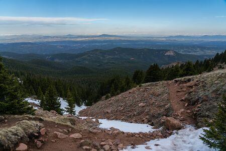 Pikes Peak - Near Colorado Springs, Colorado. Stockfoto