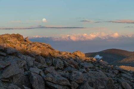 Sunset from near 14,000 on Mount Evans Road.