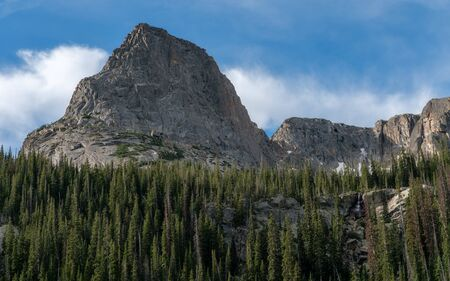 Along the East Inlet Trail, from Grand Lake, Colorado.  Rocky Mountain National Park. Stockfoto