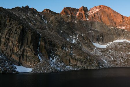 Longs Peak, Rocky Mountain National Park.  Estes Park, Colorado. Stock Photo