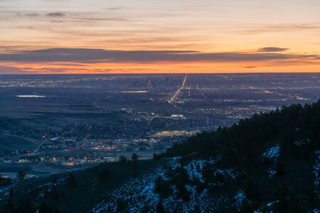 The view from Lookout Mountain, looking out over Denver, Colorado.