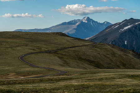 Trail Ridge Road, high in Colorado's Rocky Mountain National Park.