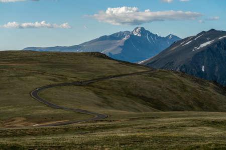 Trail Ridge Road, high in Colorado's Rocky Mountain National Park. 版權商用圖片