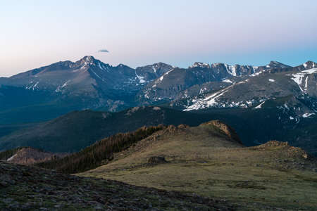 View of Long's Peak from Tombstone Ridge, near Estes Park, Colorado.