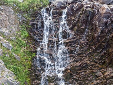 Mountain Waterfall with Drone