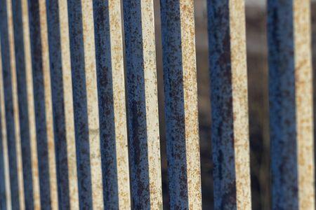 closeup of steel rod,steel bar,rusty iron wire Stock Photo