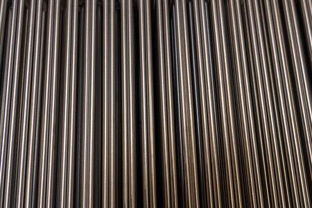 Iron tubes, background Stock Photo