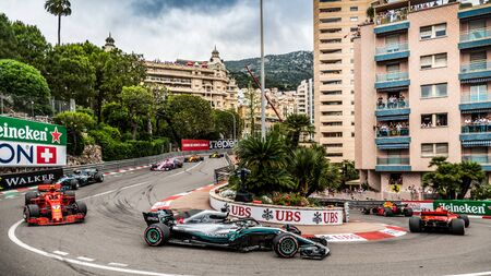 Monte Carlo/Monaco - 05/27/2018 - #44 Lewis HAMILTON (GBR) in his Mercedes W09 during the Monaco GP