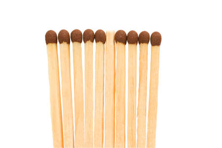 Matches on a white background   photo