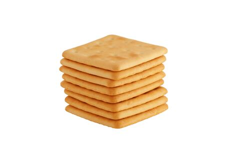 crackers in a white background photo