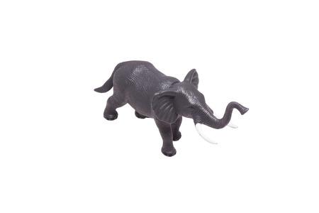 toy elephant: Toy elephant figurine. Isolated on white.