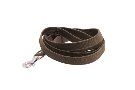 lead rope: Leash dog rolled. Isolated on white.