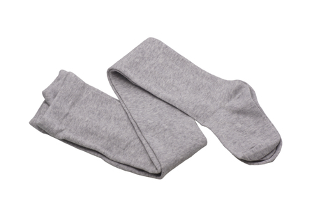 season specific: Children tights gray. Isolated on white. Stock Photo