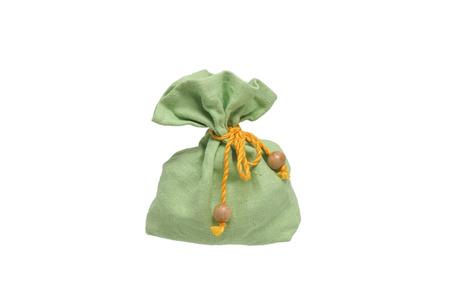 Gift bag. Isolated on white. Stock Photo