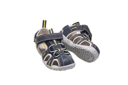 Children's shoes sandals. Isolated on white.                                  Standard-Bild