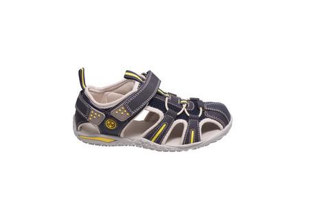 Children îne shoe sandal. Isolated on white.