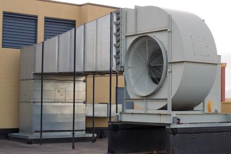 De qualité commerciale à l'extérieur ventilateur d'air Banque d'images