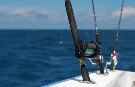 trolling: Varillas gran juego de arrastre para la pesca de agua salada en alta mar