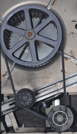 pulley: Belt and Pulley for blower wheel on a commercial hvac system.