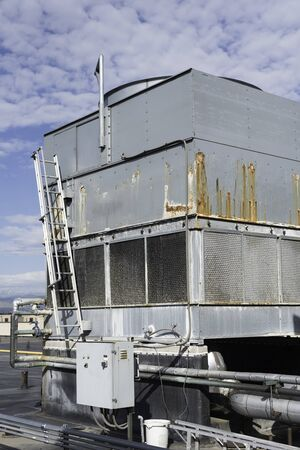 Commericial cooling tower for building air conditioning Banque d'images - 132085769