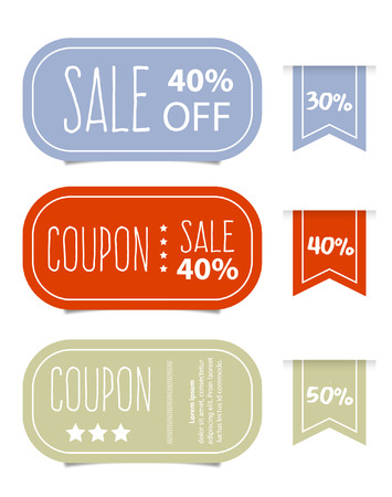 price cut: Price tags design, vector illustration. Illustration