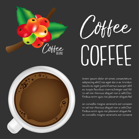 Coffee.Vector illustration Illustration