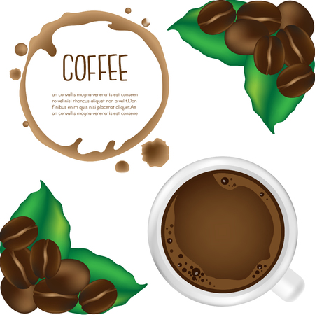 seed: Cup of coffee.vector illustration.
