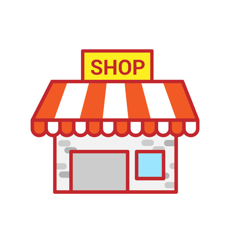 Shop building. Vector illustration