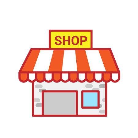 Shop building. Vector illustration Illustration