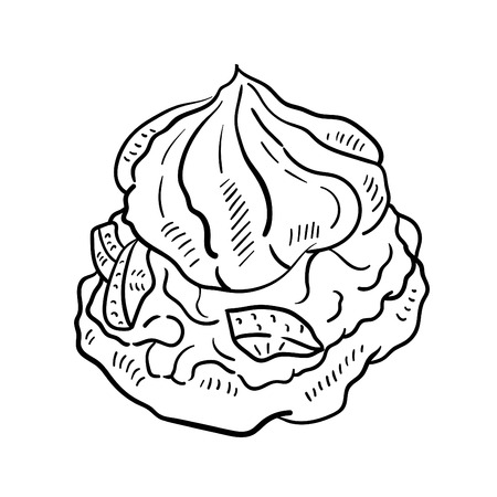 Hand drawn illustration of cake.