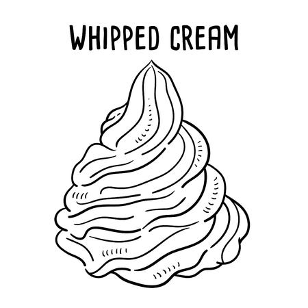 Hand drawn illustration of Whipped cream.