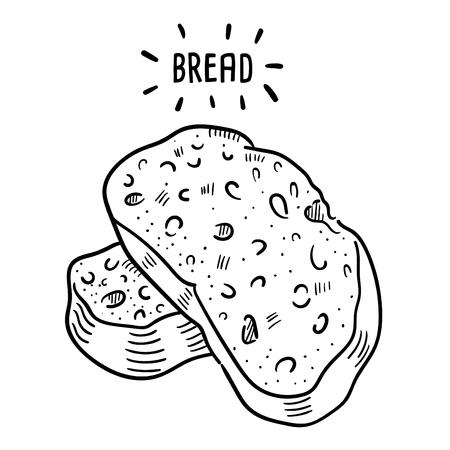 Hand drawn illustration of Bread.