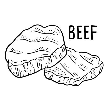 Hand drawn illustration of Beef. Stock fotó - 108849580