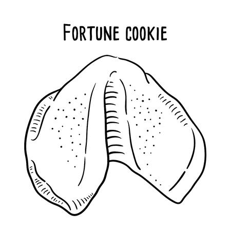 Hand drawn illustration of Fortune Cookie. Illustration
