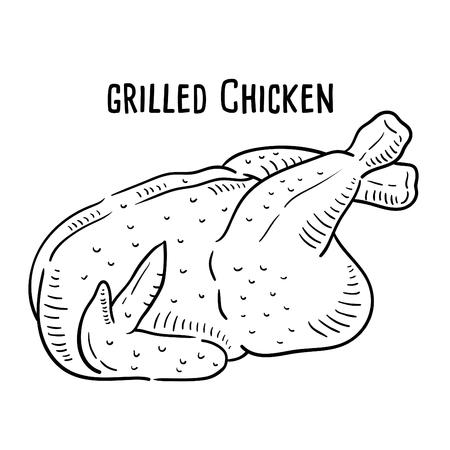 Hand drawn illustration of Grilled Chicken.
