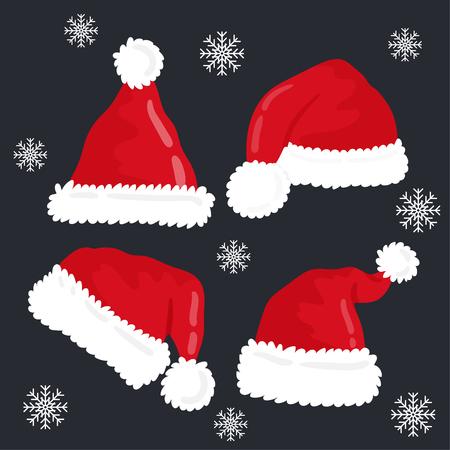 Christmas hat set. 免版税图像 - 112804808