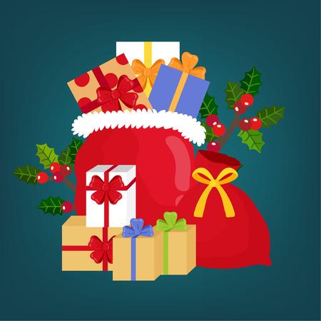 Cute Cartoon Christmas gift box. 矢量图像