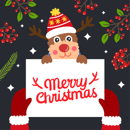 Cute Cartoon Christmas vector. 免版税图像 - 112804815