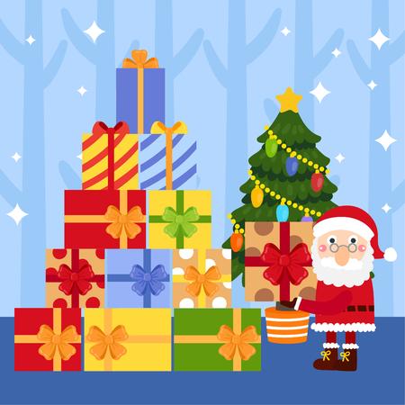 Cute Cartoon Christmas vector. 免版税图像 - 112804818
