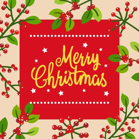 Merry Christmas Greeting Card. 免版税图像 - 112804852