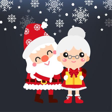 Cute Cartoon Christmas vector. 矢量图像