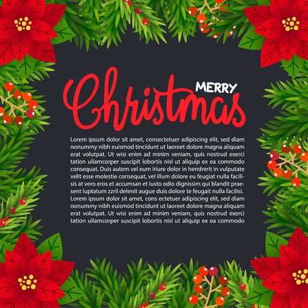 Merry Christmas Greeting Card. 免版税图像 - 112804878