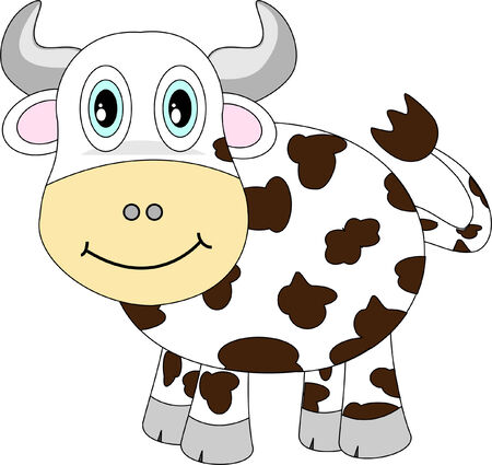 Cute looking happy cow Illustration