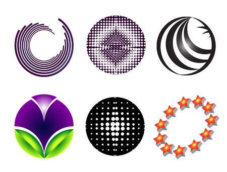 6 circular logo Illustration
