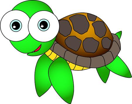 large turtle: Cute sea turtle Illustration